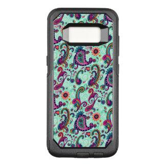 Pretty Mint Paisley OtterBox Commuter Samsung Galaxy S8 Case