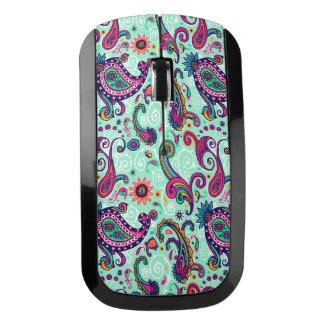 Pretty Mint Paisley Wireless Mouse