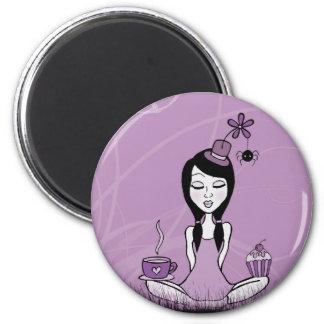 Pretty Miss Purple Magnet