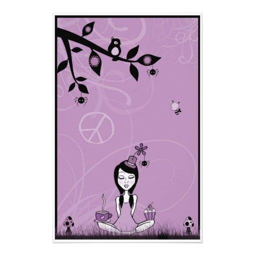 Pretty Miss Purple Stationery