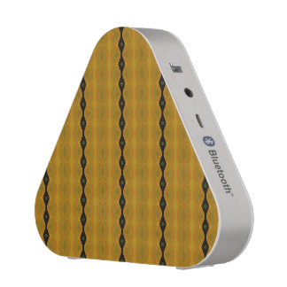 Pretty Modern Abstract Striped Black Gold Olive Speaker