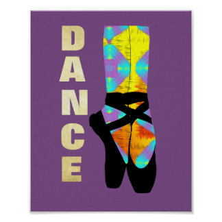 Pretty Modern Art Ballet Dance Themed Poster