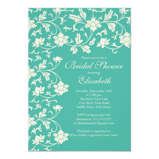 Pretty Modern Blooms Floral Bridal Shower Card
