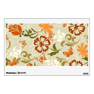 Pretty Modern Floral Pattern Wall Decal