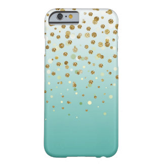 Pretty modern girly faux gold glitter confetti barely there iPhone 6 case