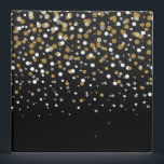 """Pretty modern girly faux gold glitter confetti binder<br><div class=""""desc"""">Pretty modern girly faux gold glitter confetti ombre illustration, yellow gold shining, glow faux glitter, gradient shades of grey, black, white, falling sparkle dots, festive, celebration, party, decorative, metallic, light, trendy, chic, whimsical, romantic, beautiful, girly, glamorous, unique, fashion, vibrant trendy colors, popular, cute, modern, artistic, adorable, sweet, stylish, shabby chic,...</div>"""
