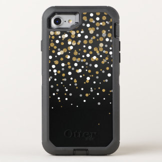Pretty modern girly faux gold glitter confetti OtterBox defender iPhone 7 case