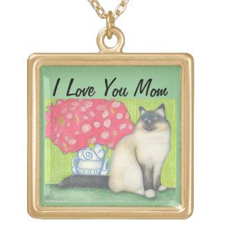 Pretty Mom Cat Lovers Necklace, Mom Jewelry