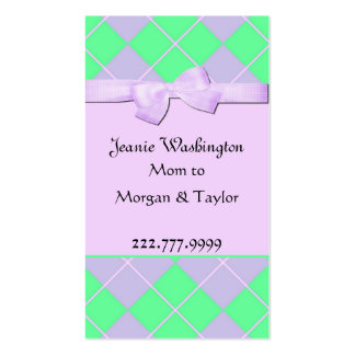 Pretty Mommy Card Double-Sided Standard Business Cards (Pack Of 100)