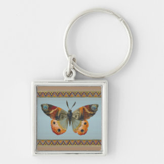 Pretty Monarch Butterfly Abstract Border Keychain