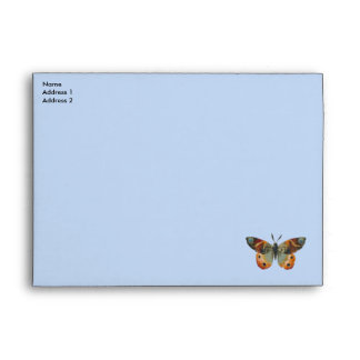 Pretty Monarch Butterfly Autumn Colors Birthday Envelope