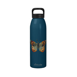 Pretty Monarch Butterfly Autumn Colors Reusable Water Bottles