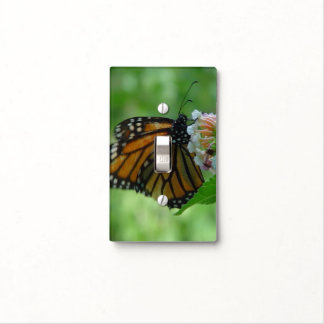 Pretty Monarch Butterfly Floral Light Switch Cover