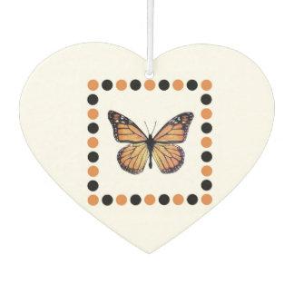 Pretty Monarch Butterfly Heart Shape Air Freshener