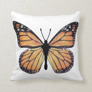 Pretty Monarch Butterfly Throw Pillow