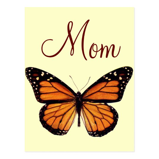 Pretty Monarch Butterfly Postcard