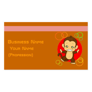 Pretty Monkey Double-Sided Standard Business Cards (Pack Of 100)