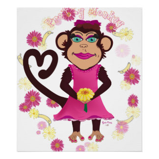 Pretty Monkey Canvas Print
