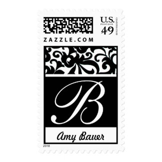 Pretty Monogram Letter B Stamp