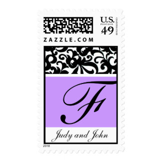 Pretty Monogram Letter F Stamp