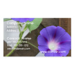 Pretty Morning Glories Business Card Templates