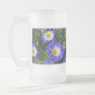 Pretty Morning Glories Glass Beer Mug