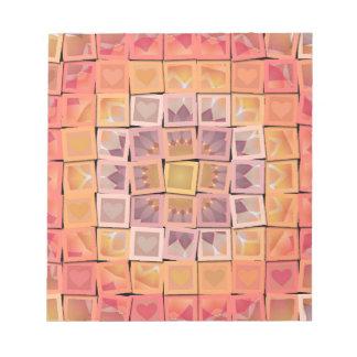 Pretty Mosaic Multi-Color Multi-Shape Squares Note Pads