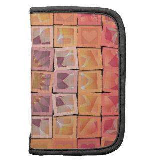 Pretty Mosaic Multi-Color Multi-Shape Squares Folio Planner