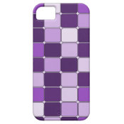 Pretty Mosaic Tile Pattern Purple Lilac Lavender iPhone 5 Cover