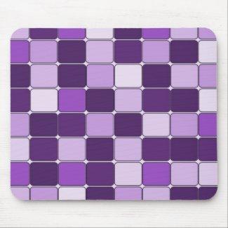 Pretty Mosaic Tile Pattern Purple Lilac Lavender Mousepad