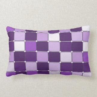 Pretty Mosaic Tile Pattern Purple Lilac Lavender Throw Pillow