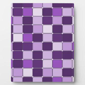 Pretty Mosaic Tile Pattern Purple Lilac Lavender Plaque