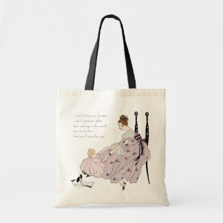 Pretty Mother and Cute Baby Pink Purple Tote Bag