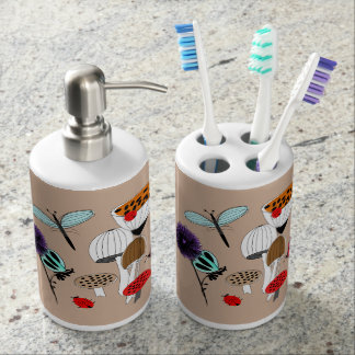 Pretty Mother Nature Country Illustration Bathroom Set
