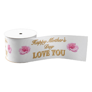 Pretty Mothers Day Ribbons with Pink Roses