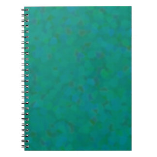 Pretty Mottled Green Abstract Spiral Notebook
