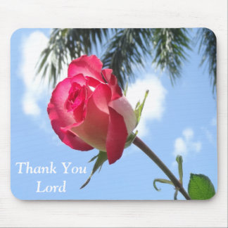 Pretty Mousepads with Rose and Thank You Lord
