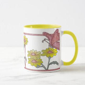 Pretty Mug With Butterflies & Flowers