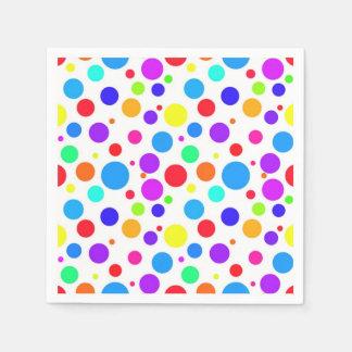 Pretty Multi Colored Spots Paper Napkin