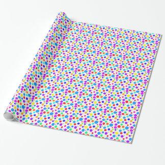 Pretty Multi Colored Spots Wrapping Paper