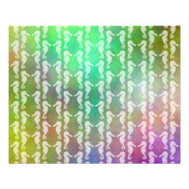 Pretty Multicolor Seahorse Pattern Design Flyer