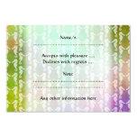 Pretty Multicolor Seahorse Pattern Design 3.5x5 Paper Invitation Card