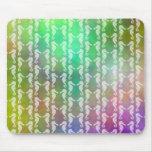 Pretty Multicolor Seahorse Pattern Design Mousepads
