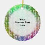 Pretty Multicolor Seahorse Pattern Design Christmas Tree Ornaments