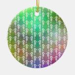 Pretty Multicolor Seahorse Pattern Design Christmas Ornaments