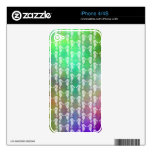 Pretty Multicolor Seahorse Pattern Design Skins For The iPhone 4
