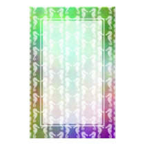 Pretty Multicolor Seahorse Pattern Design Stationery