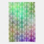 Pretty Multicolor Seahorse Pattern Design Towels