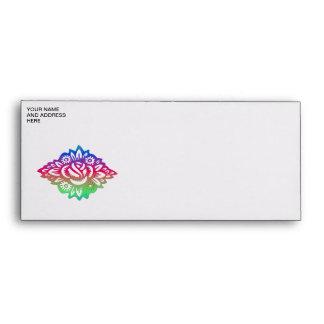 Pretty multicolored floral design envelope