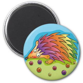 Pretty multicoloured sprocket wheel 2 inch round magnet